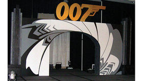 Image of a Set: James Bond Walk-Through stage set