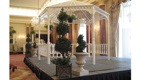 Image of a English Gazebo, White