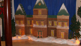 Image of a Nutcracker Style Christmas Siberian Village