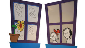Image of a Prop: Storybook, Dr. Seuss Window-Pair