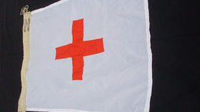 Image of a Nautical Signal Flag, Square with Cross