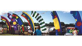 Image of a Flutter Flag, Festival Colors