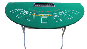 Image of a Games: Casino, Black Jack Half Circle Table