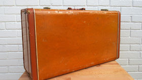 Image of a Vintage Luggage, Burnt Sienna
