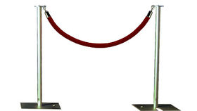 Image of a Rope and Stanchion: Red Velvet and Aluminum