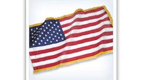 Image of a USA, 3' x 5' with Regalia