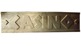 Image of a Gold Casino Sign