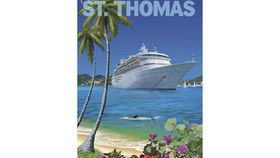 Image of a Travel Poster, St. Thomas