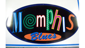 Image of a Memphis Blues Sign