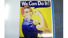 Image of a Rosie the Riveter Sign