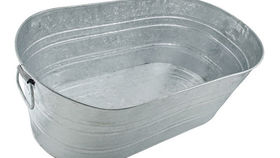 Image of a Prop: Western, Galvanized Metal Trough 5.5 Gallon
