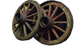 Image of a Prop: Western, Wagon Wheel, Antique