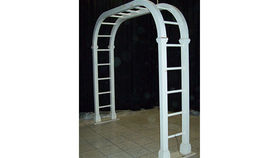 Image of a Ladder Trellis Arch, White