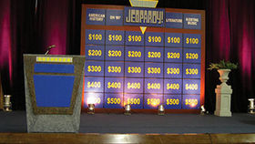 Image of a Set: Jeopardy Gameshow with Podium