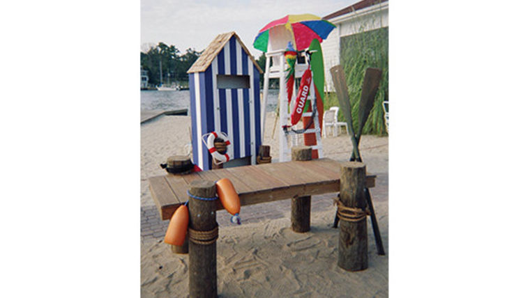 "Prop: Beach, Dock Table, 30"" x 6ft : goodshuffle.com"