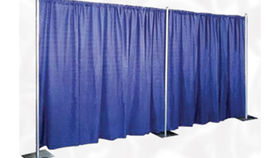 Image of a Pipe and Drape: Premier, Presidential Blue 14ft x 10ft