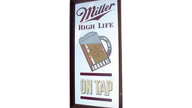 "Image of a ""Miller High Life on Tap"" Mirror"