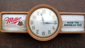 "Image of a ""Miller: Made the American Way"" Clock"