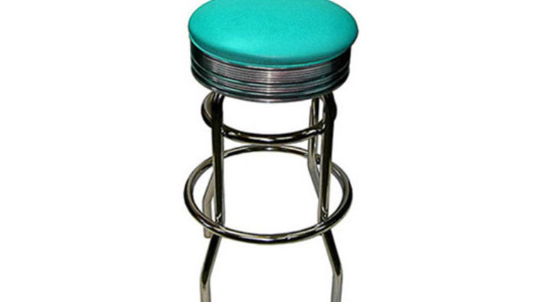 Image of a Barstools:  Retro Chrome Aqua
