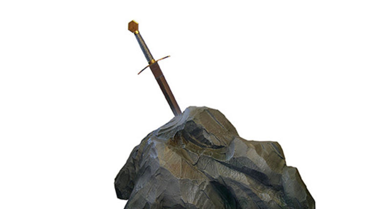 Picture of a Prop: Storybook, Sword in the Stone