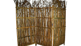 Image of a Thatched Bamboo Screen