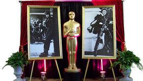 Image of a Movie Star: Errol B&W Gold Frame