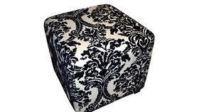 """Image of a 18"""" Cube Ottoman, Damask"""