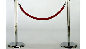 Image of a Rope and Stanchion: Red Velvet and Chrome