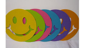 Image of a Felt Smiley Face