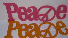 Image of a Felt Peace Sign