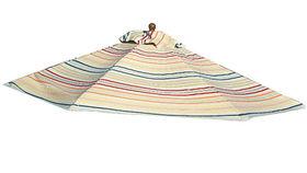 Image of a Umbrella:  Market, Stripe Multicolor 9ft