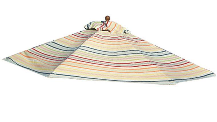 Picture of a Umbrella:  Market, Stripe Multicolor 9ft