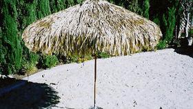 Image of a Umbrella:  Market, Thatch Natural 9ft