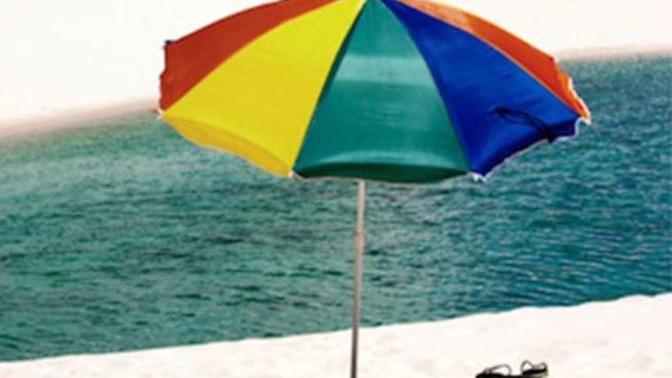 Picture of a Umbrella:  Beach, Bright Colors