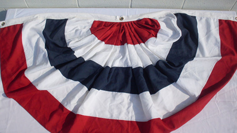 Picture of a American Bunting, Pleated, 8ft x 4ft