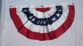 Image of a American Bunting, Pleated with Stars, 3' x 1.5'