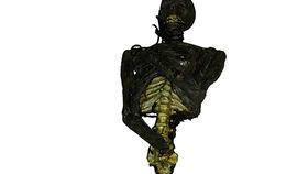 Image of a Prop: Halloween, Burnt Zombie Torso