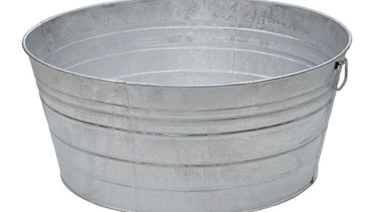 Picture of a Prop: Western, Galvanized Tub 10.5 Gallon