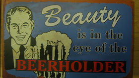Image of a Bar Sign, Beerholder