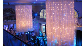 Image of a Custom Fabric and Lighting Treatment Chandelier (2 unit kit)