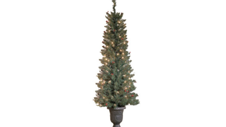 Picture of a Topiaries: Pre-lit Trees in Urn, 2pk 4.5ft