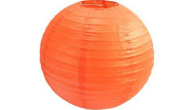 "Image of a Paper Lanterns: 18"" Orange on Lamp Wire"