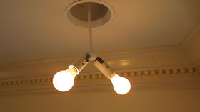 Image of a Lighting: Swivelier (double) Drop Down Arm