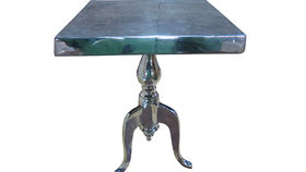 Image of a Polished Aluminum Square End Table