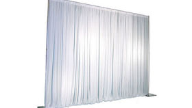 Image of a Pipe and Drape: Polyknit, White 14'x10'