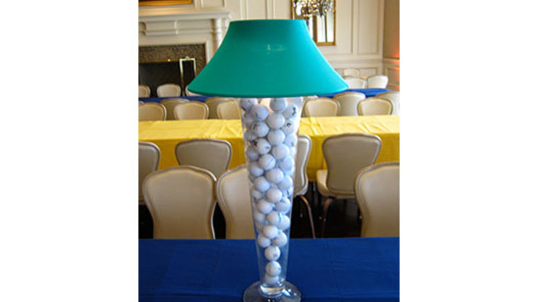 Picture of a Trumpet Vase: Green Shade & Golf Balls