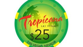 Image of a Tropicana Poker Chip, Green