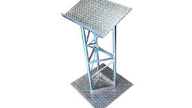 Image of a Podium: Aluminum Truss Design