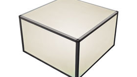 Image of a Aluminum Cube Coffee Table