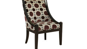 Image of a Polka Dot High Back Chair